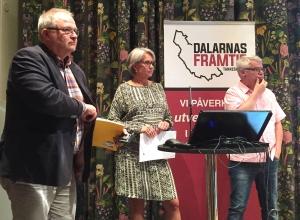 Kent Johansson, Tiina Ohlson, Göran Carlsson förklarade sina synpunkter på varför storregion Svealand kan vara bra för Dalarna.