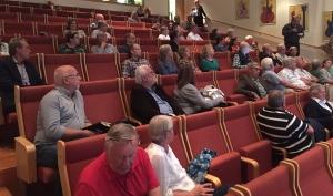 Nästan 80 personer kom till seminariet om storregionen. Flera av dem av negativa eller fundersamma till fördelarna med regiontanken.